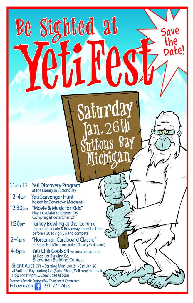 Suttons Bay YetiFest this Saturday (Jan 26)