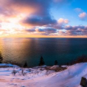 Winter Sunset by Owen Weber