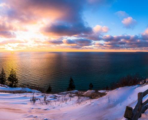 Winter Sunset by Owen Weber