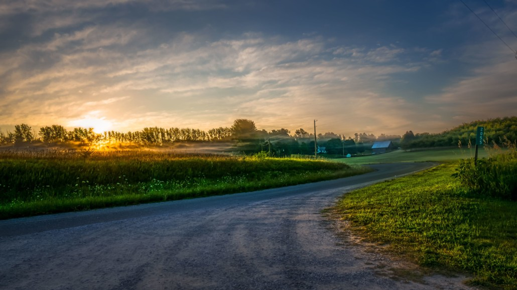 Sunrise on Alpers Road by Mark Smith