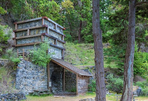 A refurbished lime kiln. Photo: WA State Parks