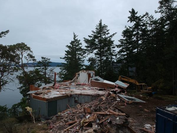 The Yurt, Mostly Demolished