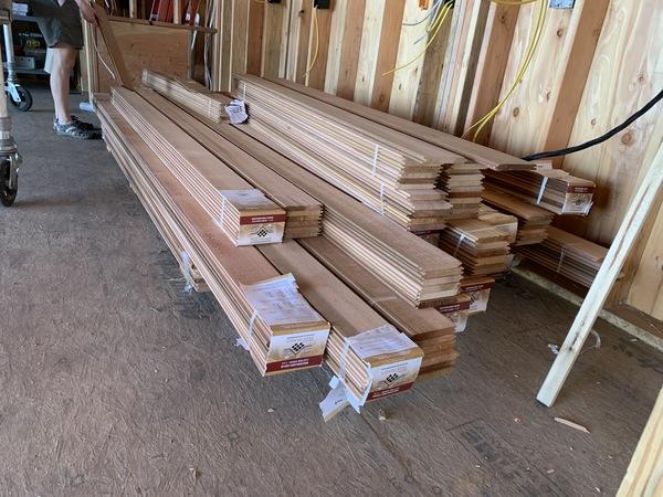 The stack of cedar