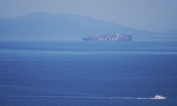 ship on salish sea
