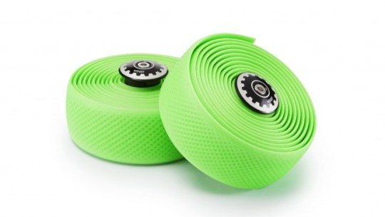Widget Premium Silicone Wrap Diamond Texture with screw-in bar end plug – Green