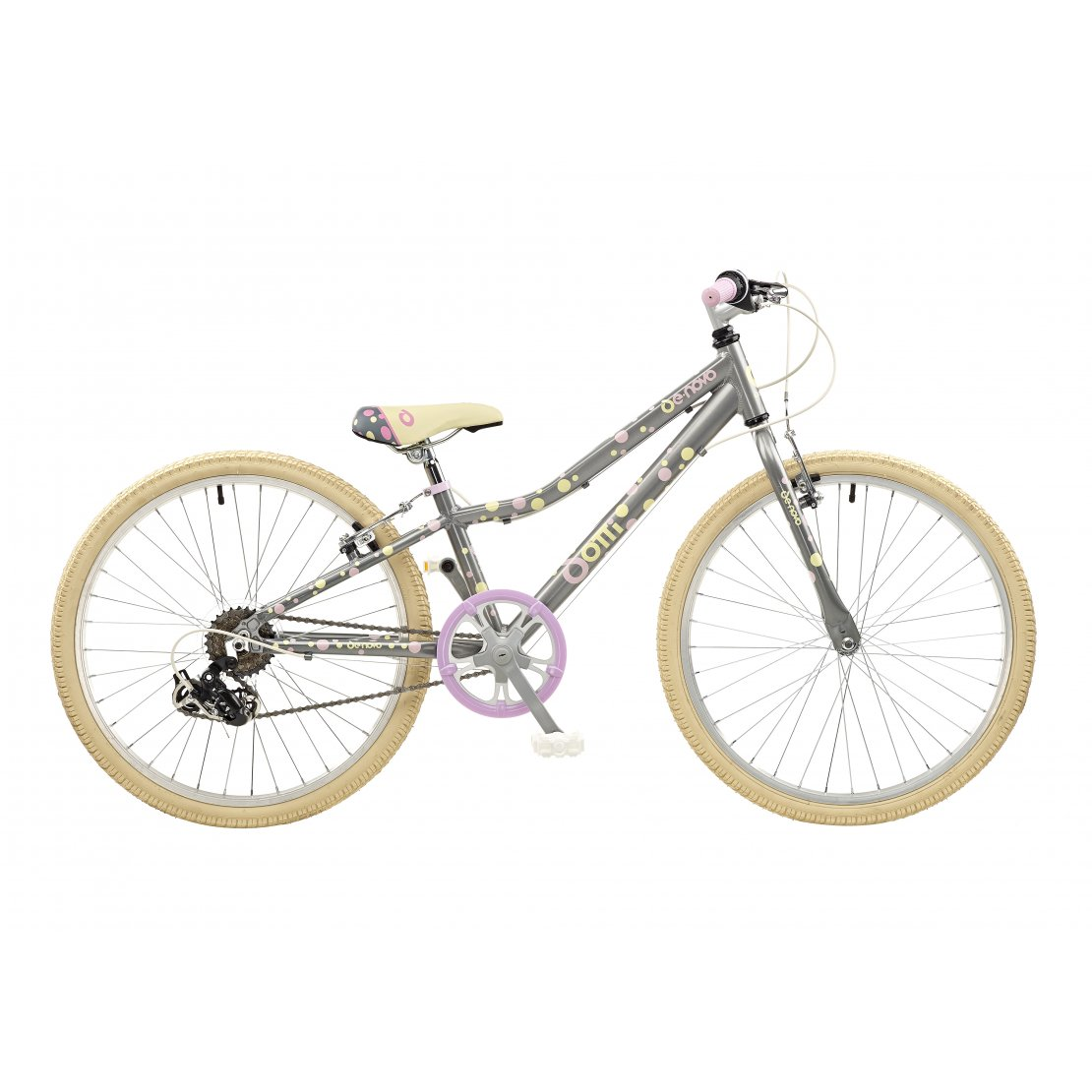 cb4cba84e De Novo Dotti-24 ATB Alloy Girls 24″ Wheel (Platinum Grey Cream ...