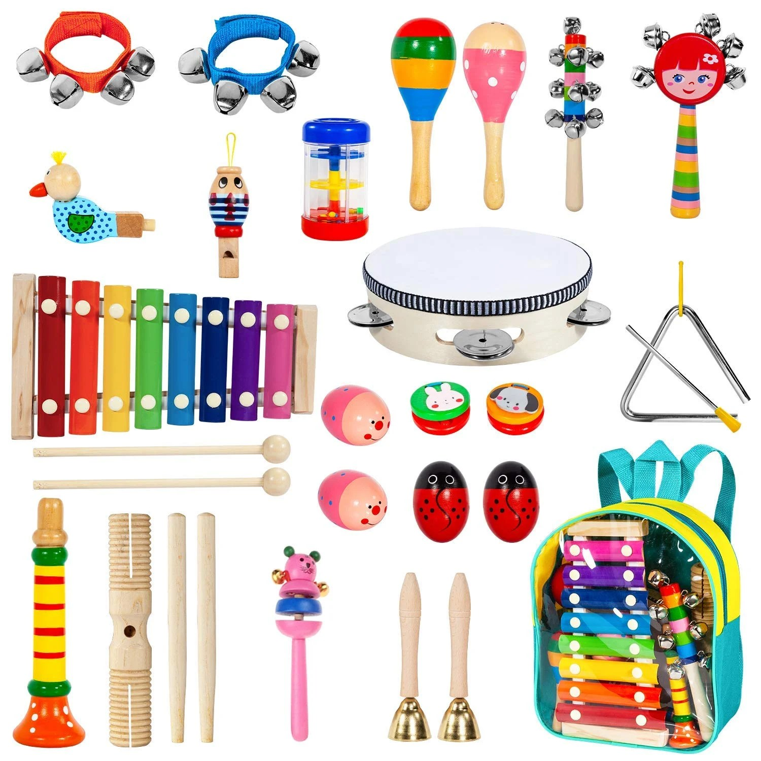 Toddler Musical Instruments With Xylophone Ailuki 24pcs 17