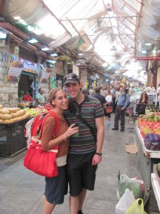 Greg and I in Machaneh Yehuda, the market in Jerusalem.