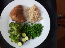 Crumbed chicken (no oil!)