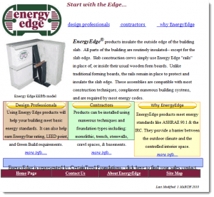 ENERGYEDGE WEBSITE - BEFORE