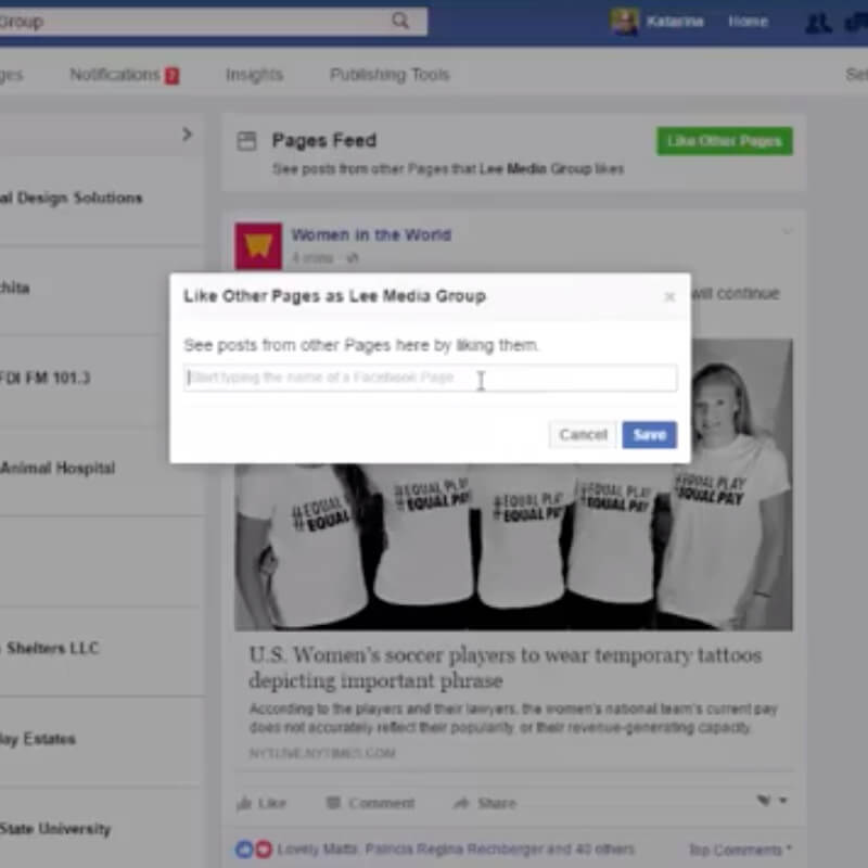 How to Like Other Business Pages on Facebook