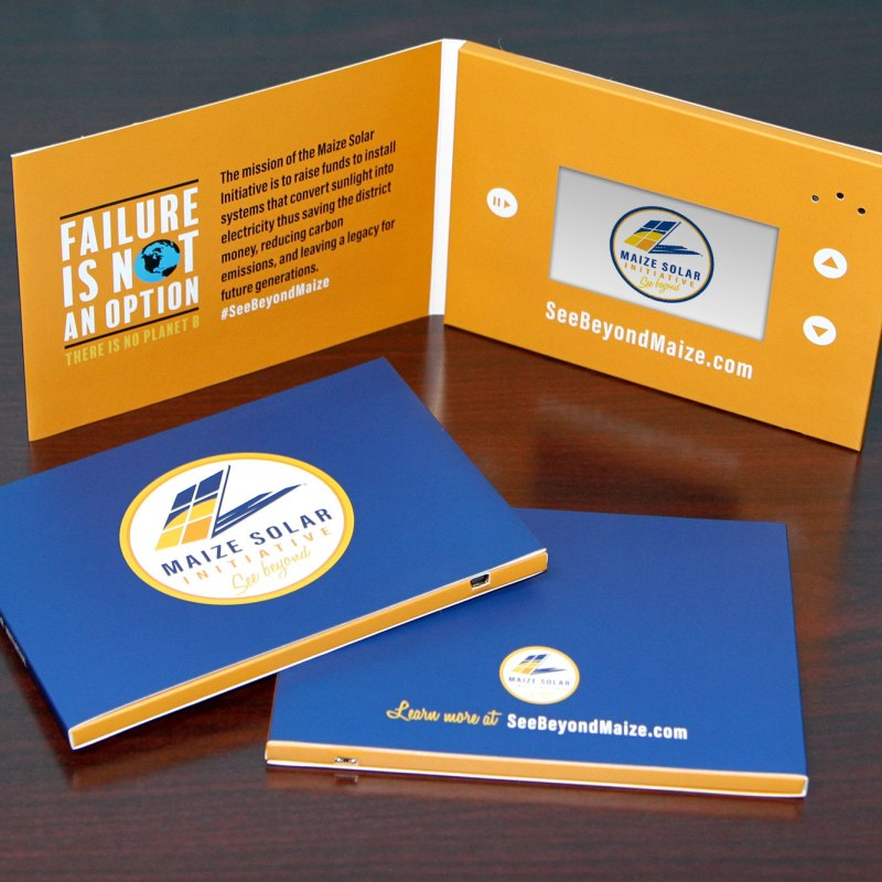 Earlier this year, we were honored to design video brochures that are being used to promote the Maize Solar Initiative.