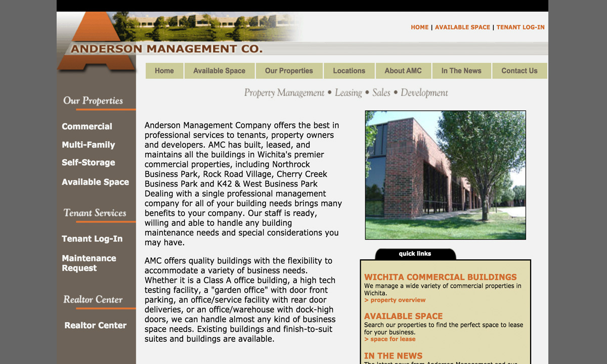 Anderson Management Co - Old Website
