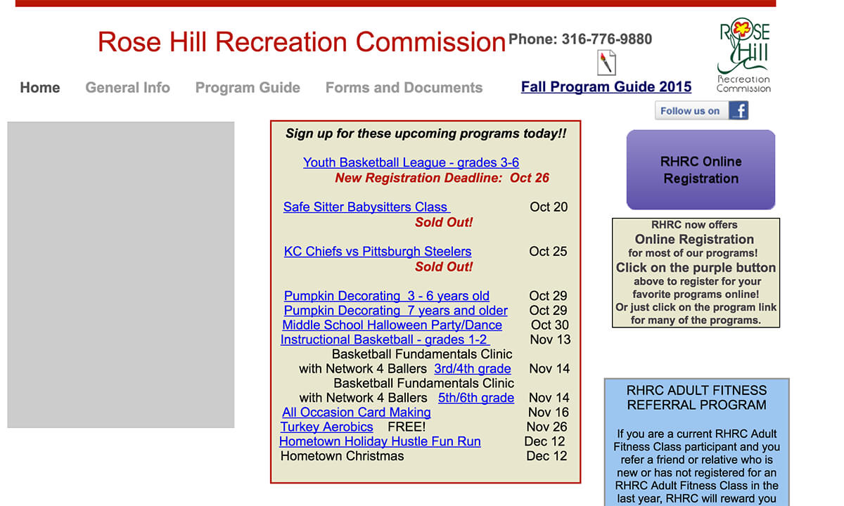 Rose Hill Recreation Commission - Before