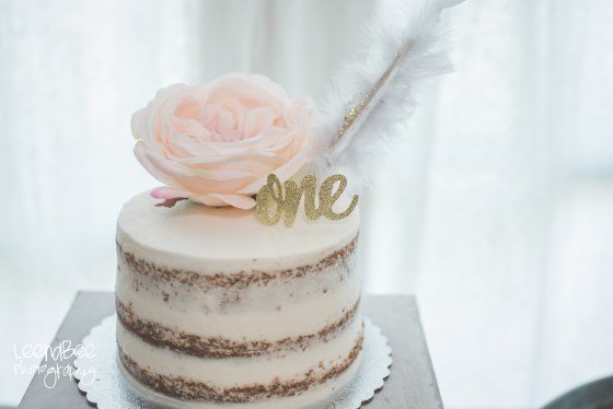 Boho First Birthday Cake Smash Dublin Ohio-2