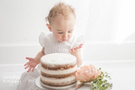 Boho First Birthday Cake Smash Dublin Ohio-21
