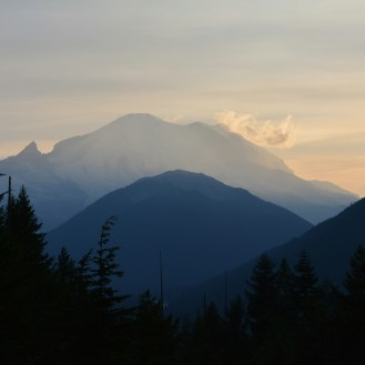 Sunset over Mt. Rainer