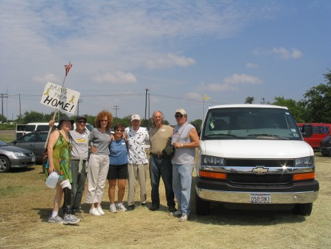 Shuttle drivers...in 100 degree muggy weather!