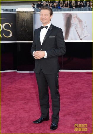 Jeremy Renner in Givenchy.