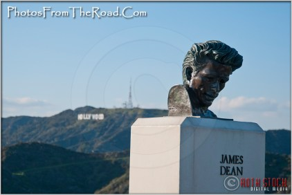 Bust of James Dean in Griffith Park