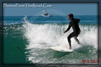 Surfing in Malibu, California