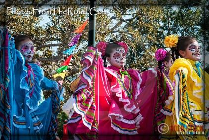 Atmosphere of Olvera Street - Celebrating Dia de los Muertos