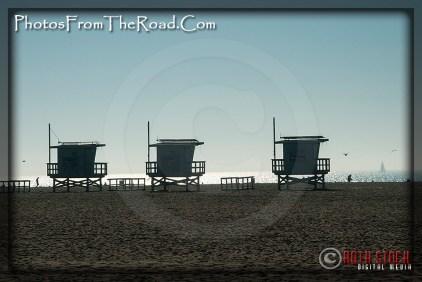 Lifeguard Shacks at the Venice Beach Boardwalk