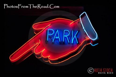 Neon Park Sign