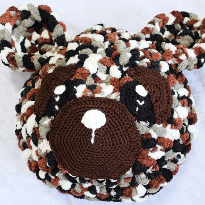 Cute Crochet Teddy Bear Pillow - Free Pattern - DIY 4 EVER | 708x708