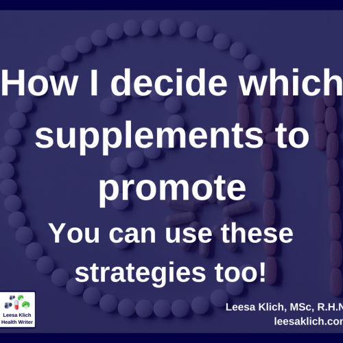 How high are your standards for supplement marketing?