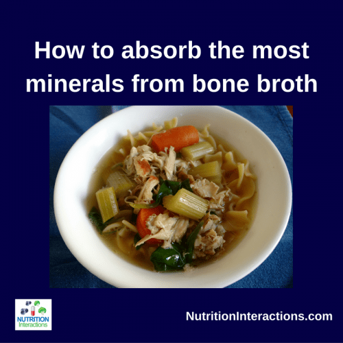 How to absorb the most minerals from your bone broth (plus my recipe)