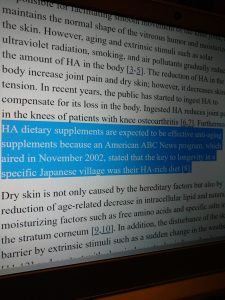 hyaluronic acid skin study quote
