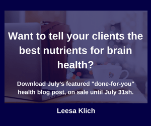 Nutrients for brain health