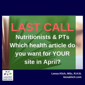 April health article