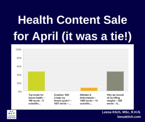 health article sale april