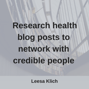 research health blog posts network