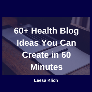 60 wellness blog ideas