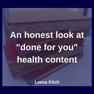 done for you health content
