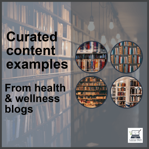 Curated content examples from health & wellness blogs