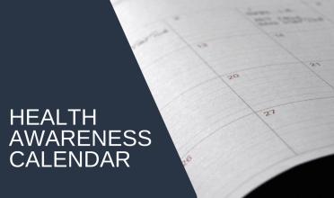 Health Awareness Calendar (gold for your wellness blog strategy)