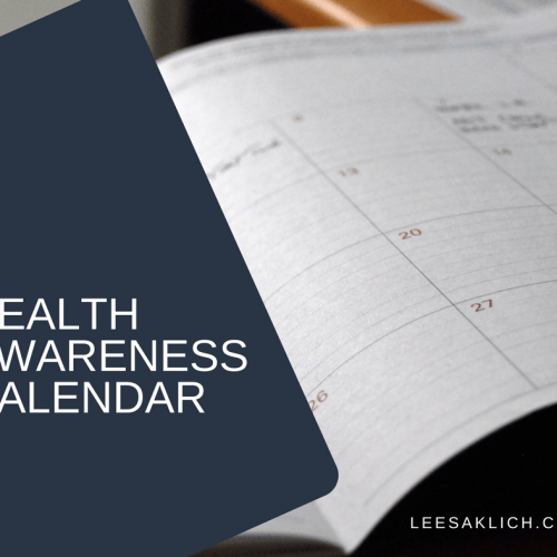 Health Awareness Calendar (gold for your wellness blog strategy)