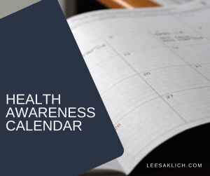Health awareness calendar