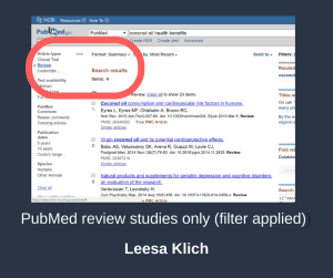 PubMed after review filter