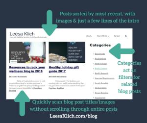 leesaklich.com blog page