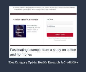 categories ideas opt in health research