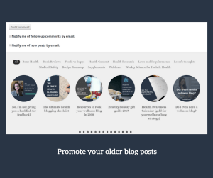 promote older blog posts