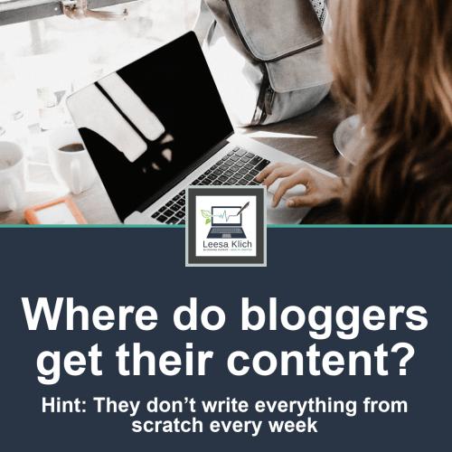 Where do bloggers get their content?
