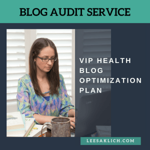 health blog optimization plan