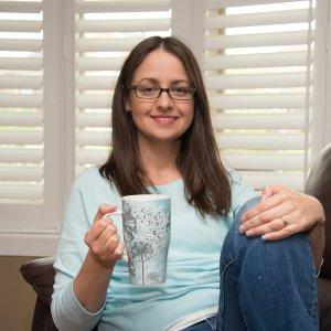 Leesa Klich with mug