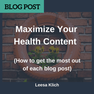 maximize health content